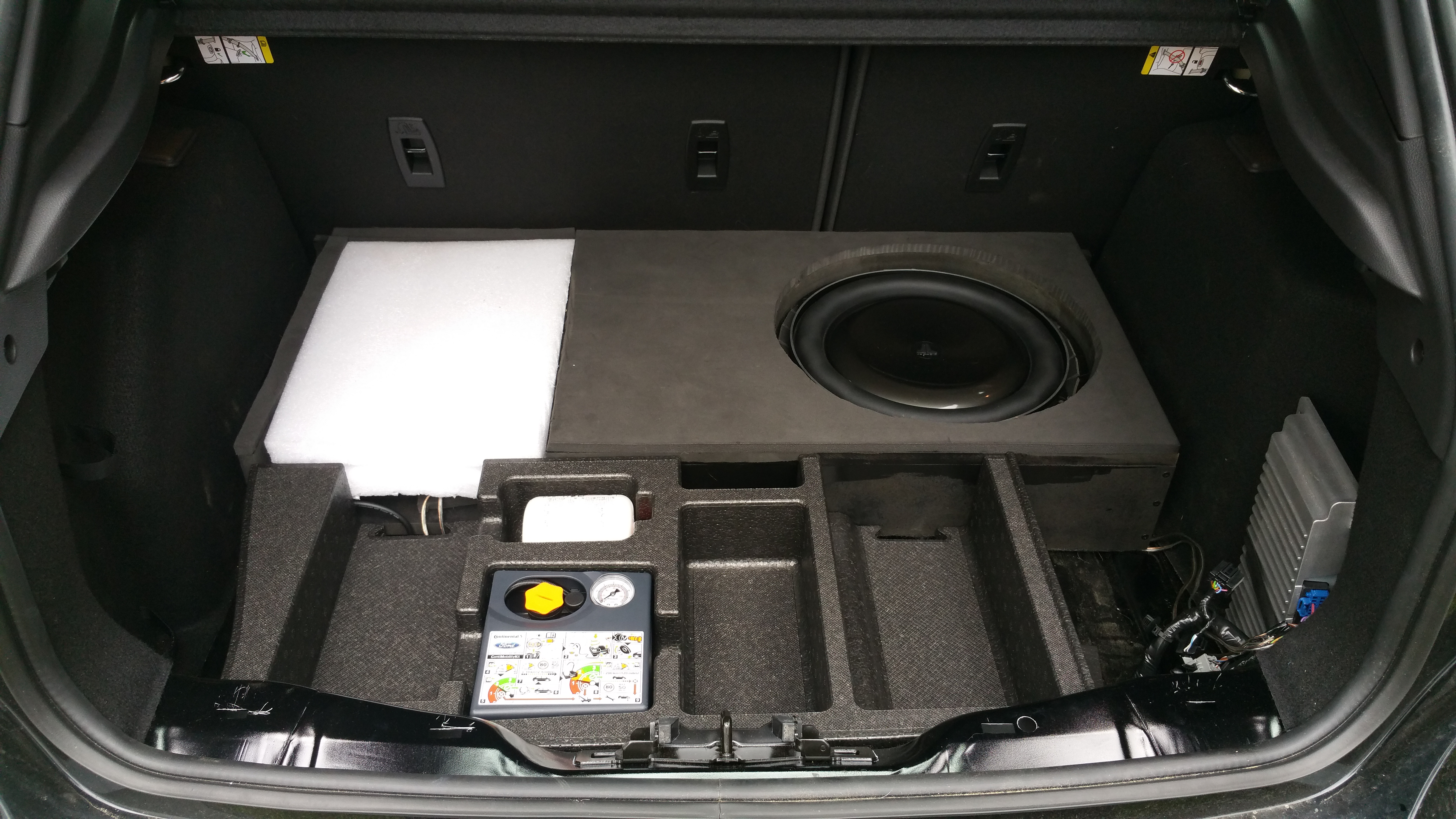 custom sub box build and speaker install. Black Bedroom Furniture Sets. Home Design Ideas