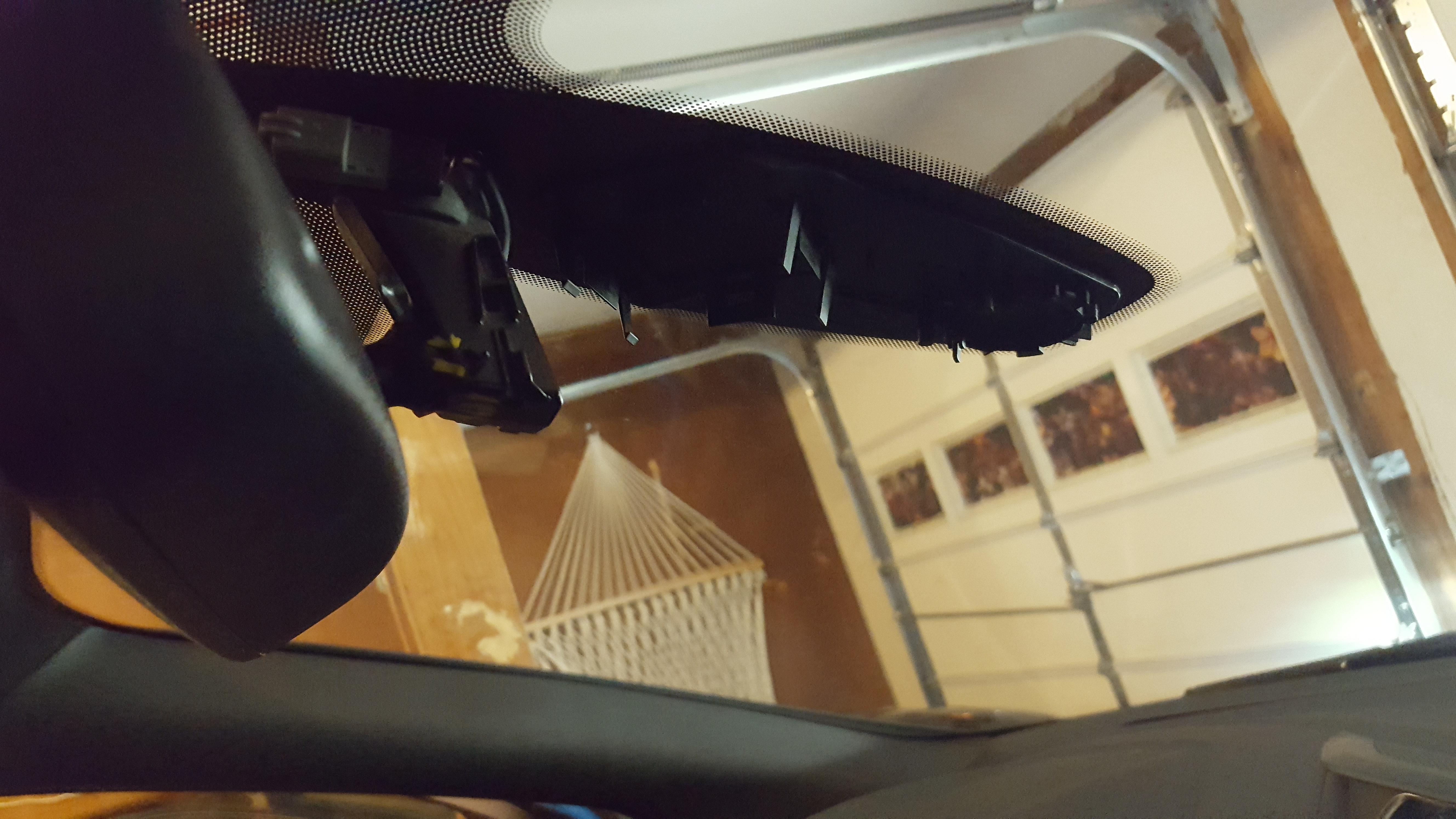 FoMoCo auto dimming rear view mirror install