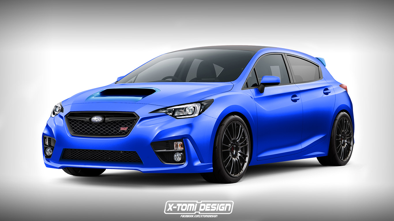 2018 subaru impreza wrx sti rendered as a hatchback. Black Bedroom Furniture Sets. Home Design Ideas