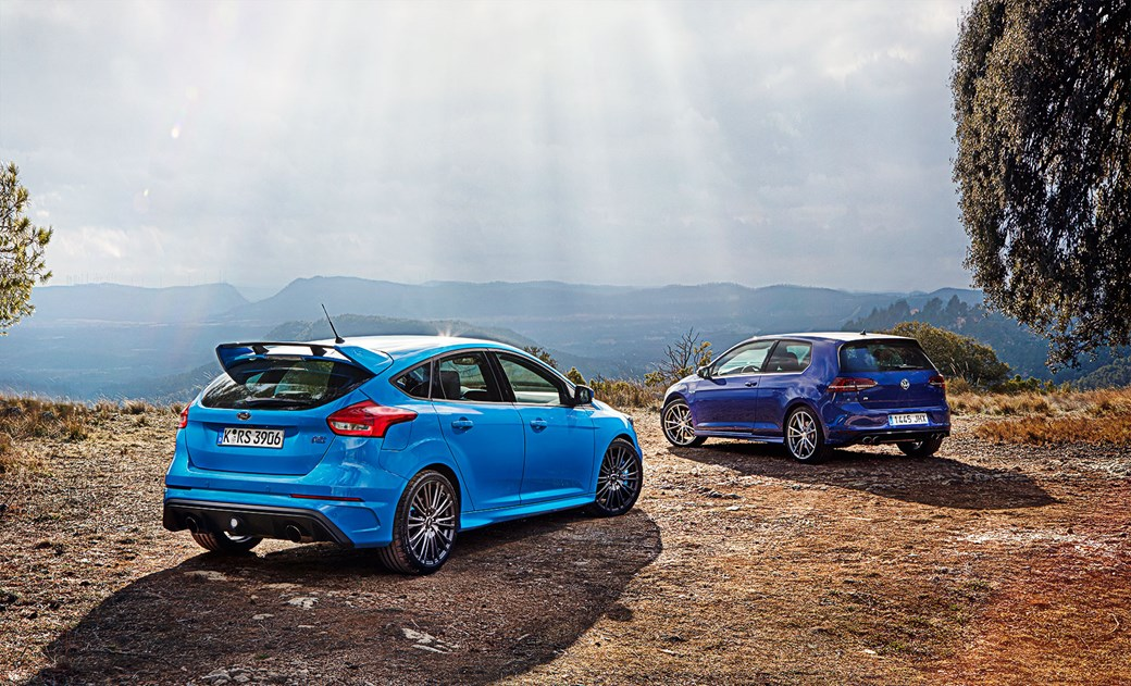 Rs is the kingdom VW Golf R vs Ford Focus RS CAR March 2016