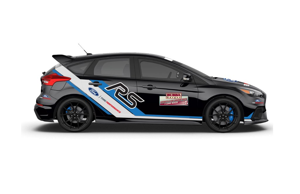 ford focus rs safety vehicle at imsa long beach grand prix. Black Bedroom Furniture Sets. Home Design Ideas