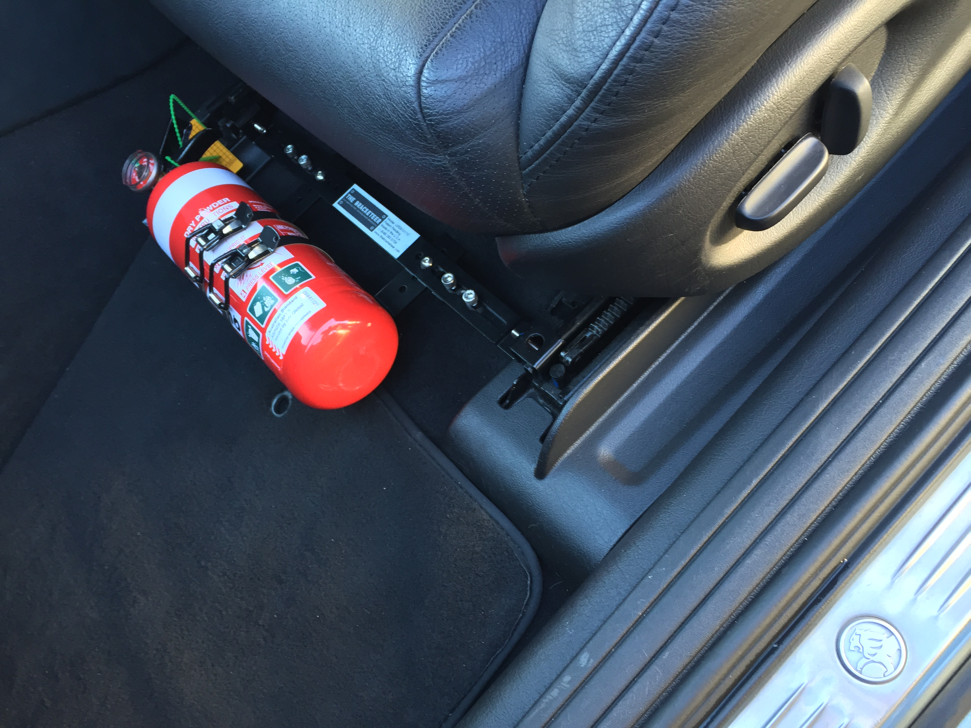 Fire Extinguisher Mounting In The Ford Rs