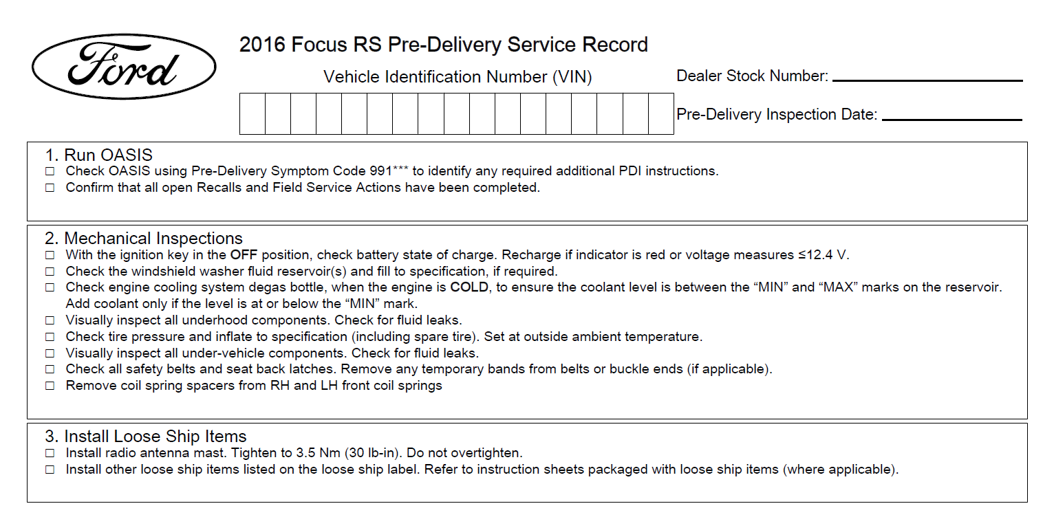 List Of Things To Check For On Delivery Page 6