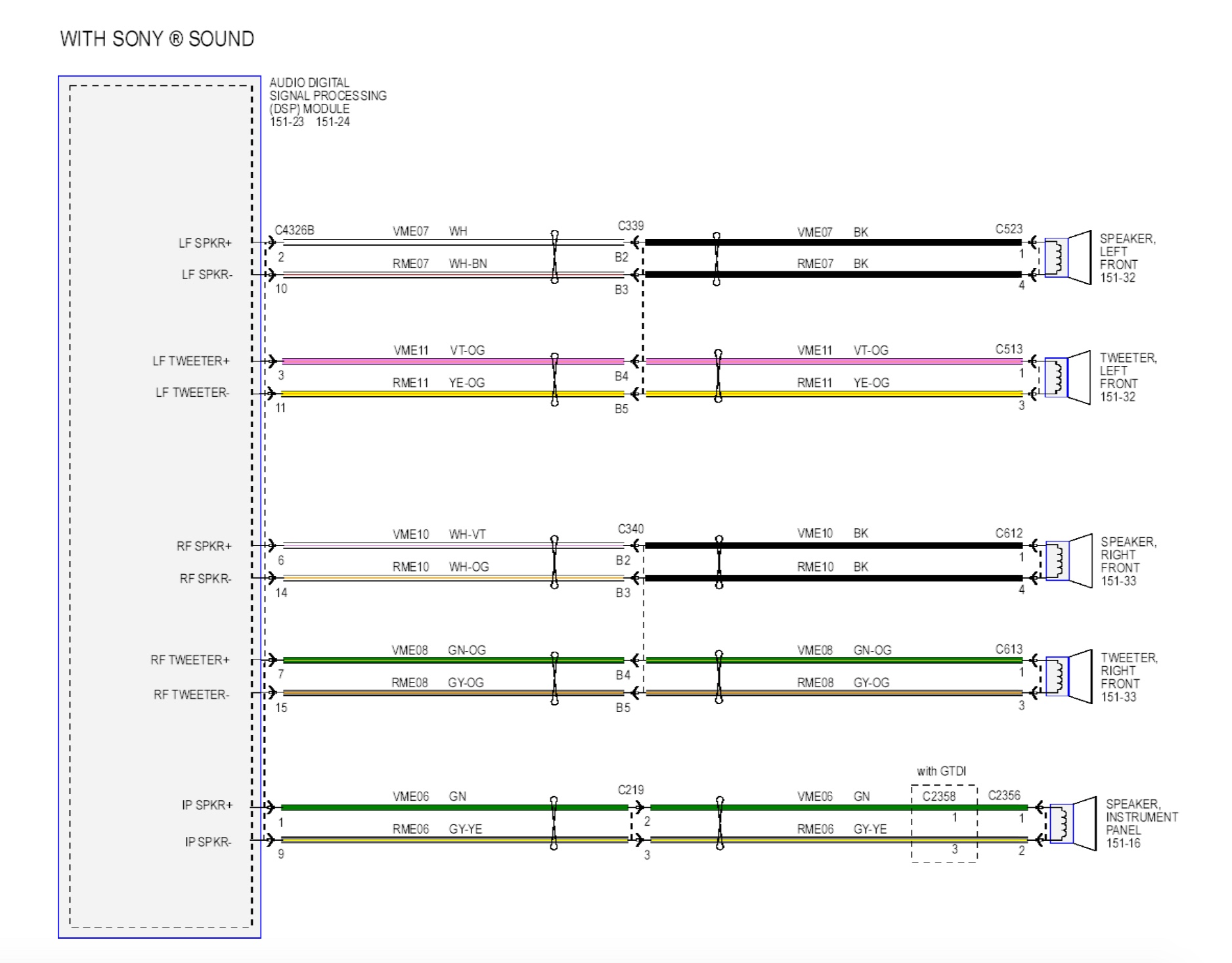 Speaker wire colors | Ford Focus RS Forum | Ford Speakers Wiring Diagram |  | Ford Focus RS Forum