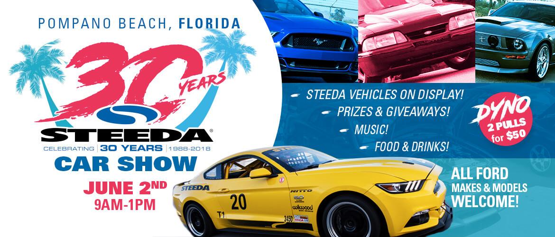Steedas Year Anniversary Car Show In Pompano Beach June Nd - Pompano car show