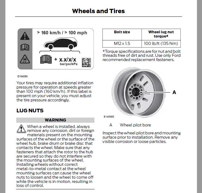 wheel nut torque page