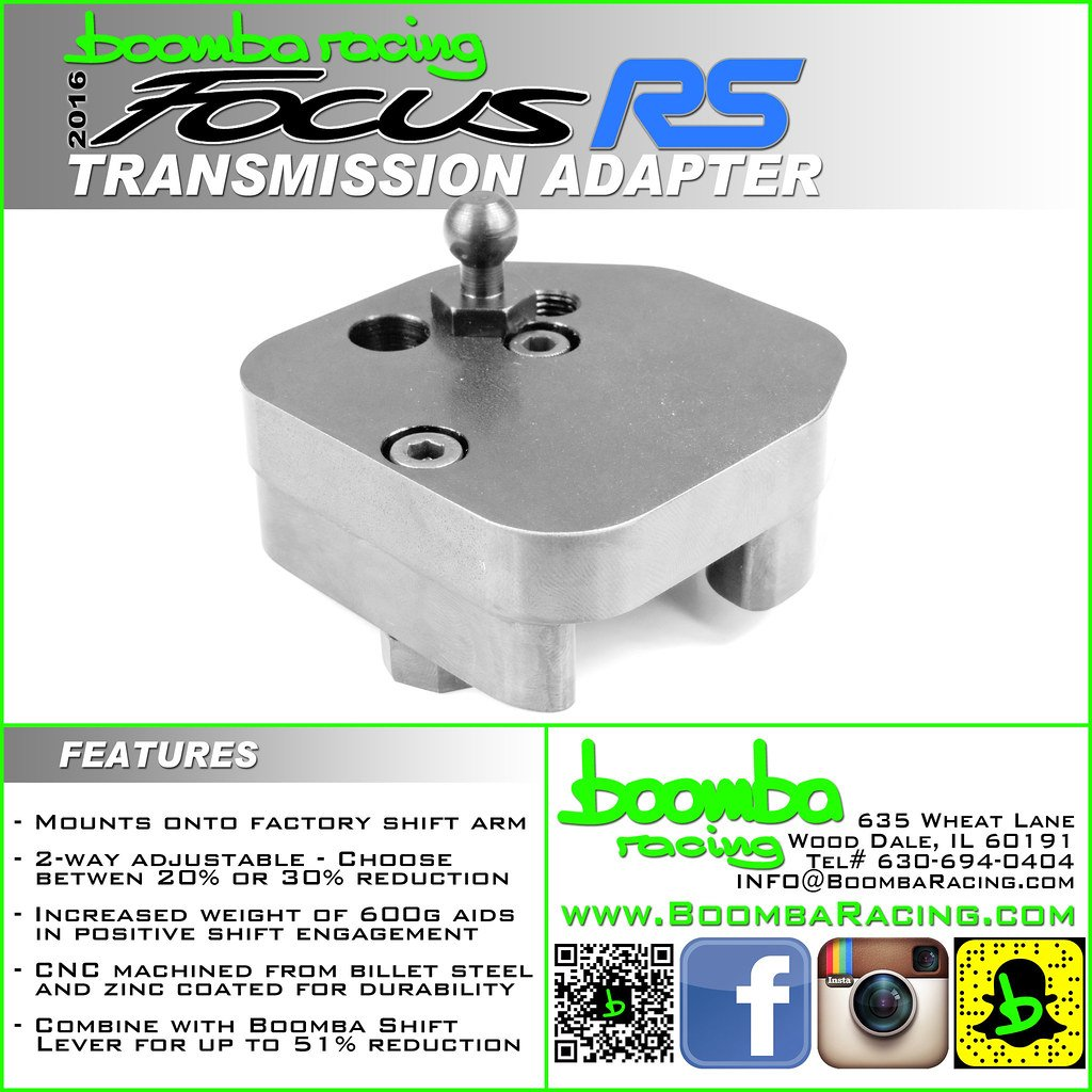 Focus RS Short Shifter Transmission Adapter Plate - Boomba