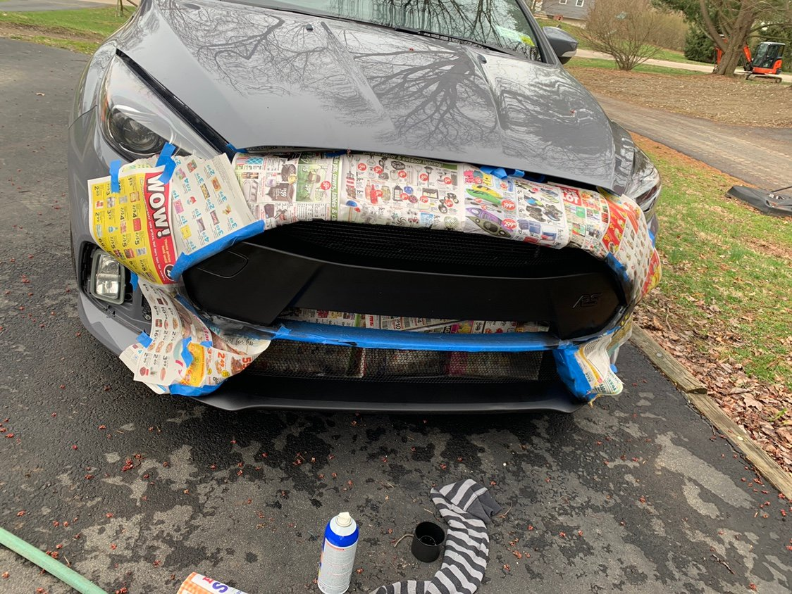 Dipped the front bar and fogs | Ford Focus RS Forum